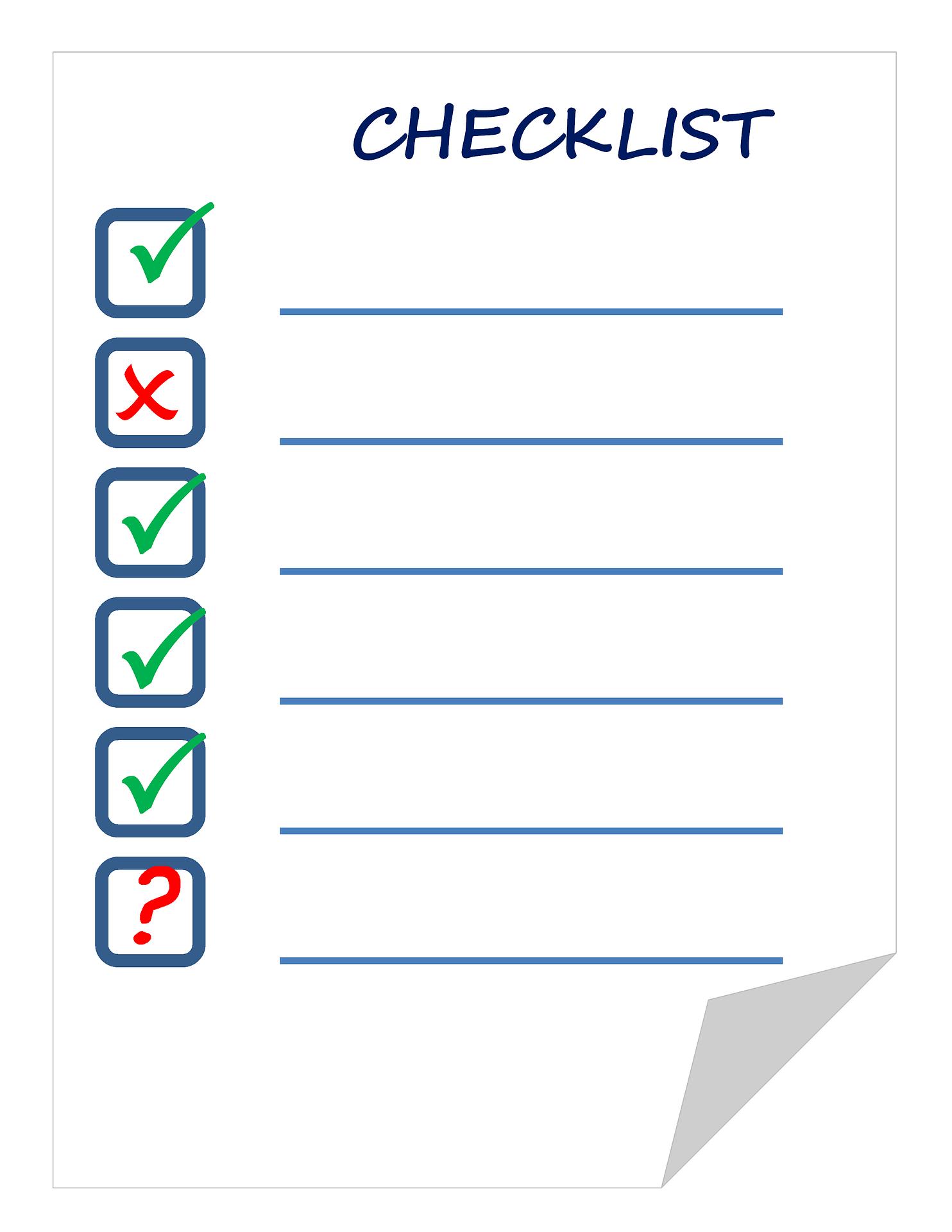 Checkliste zum Test auf Winterdepression