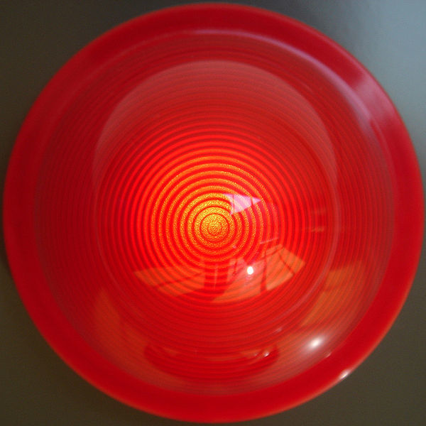 Eine Rotlichtlampe